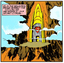 Superman's secret mountain citadel